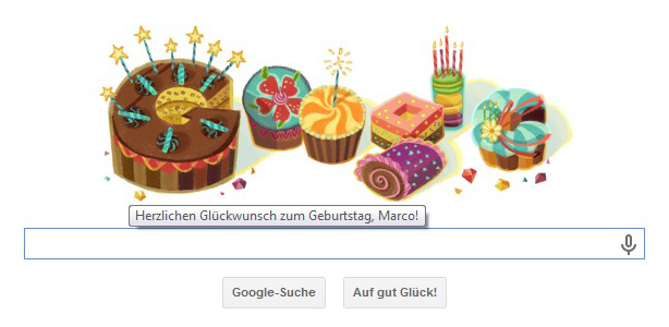 Google Happy Birthday Marco Krage