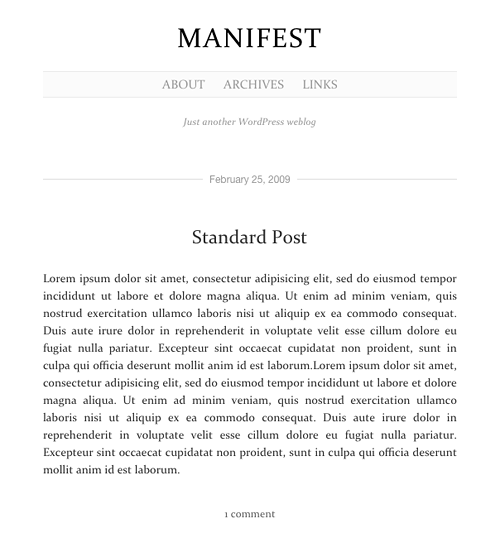 manifest  Wordpress Design
