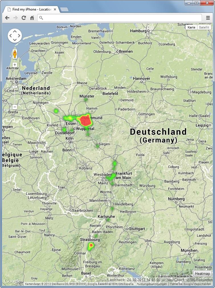 Spy Myself Deutschland Heatmap