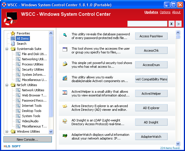 WSCC Hauptfenster